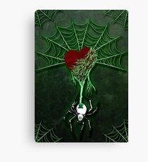 Black Widow (Green) Canvas Print