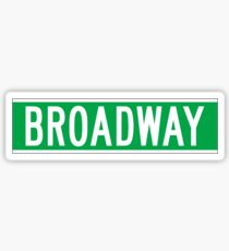 Broadway, New York Street Sign Sticker