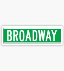 Broadway, panneau de rue de New York Sticker