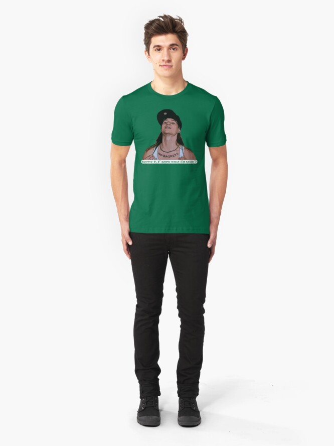 Alternate view of Scotty P Y' Know What I'm Sayin'? Slim Fit T-Shirt