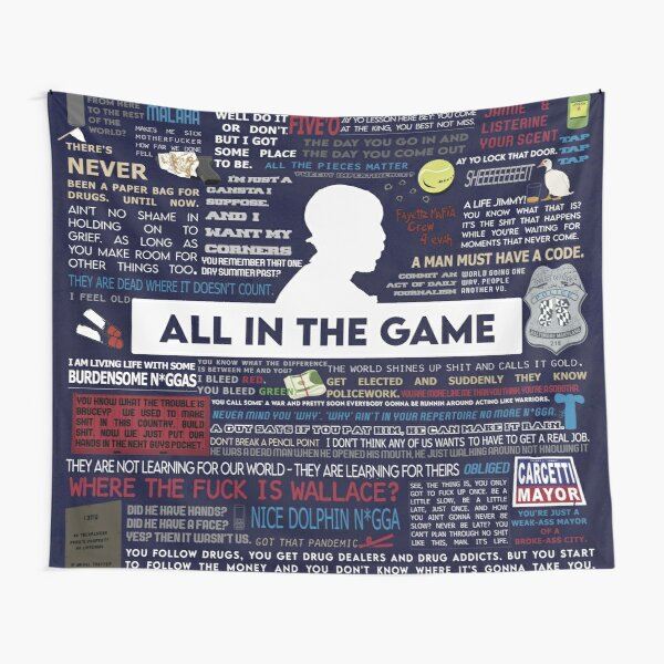 The Wire - Quotes & Symbols Tapestry