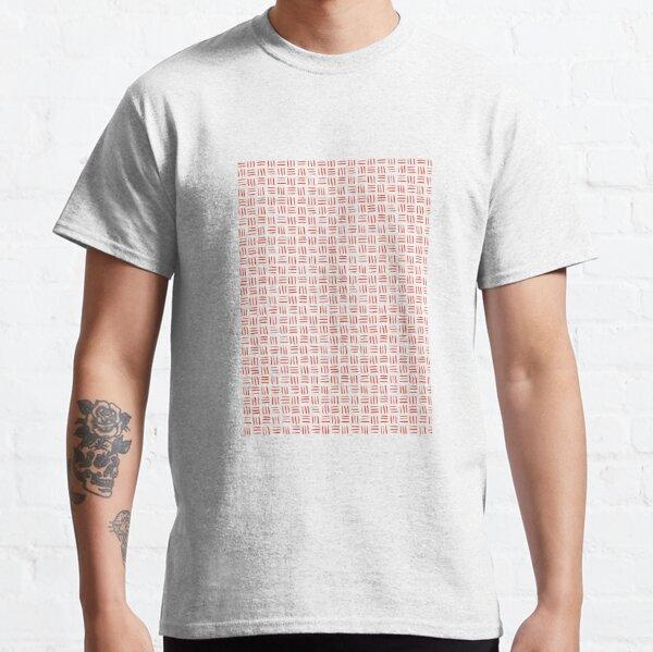 Mandarin Red Pantone Striped Pattern Classic T-Shirt