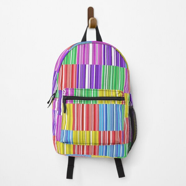 Multicoloured Barcodes Backpack