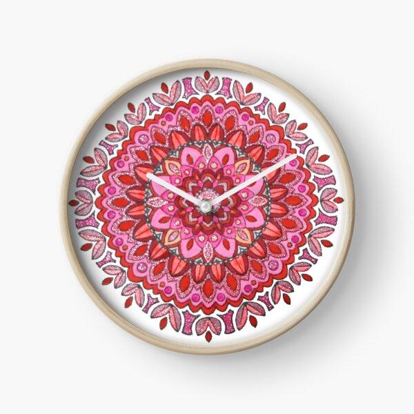 Pink Mandala Clock