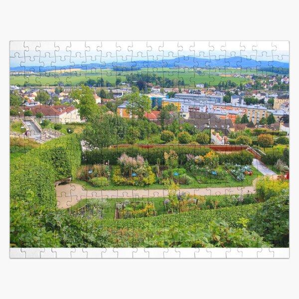 Melk Abbey garden and town, Austria Jigsaw Puzzle
