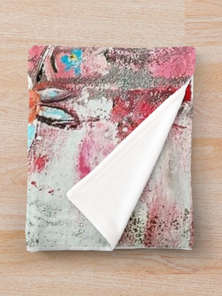 Alternate view of Blooming feelings Throw Blanket