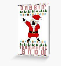 Weihnachtsmann tupfen Grußkarte
