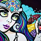 Psychedelic Graffiti Beauty by yurix