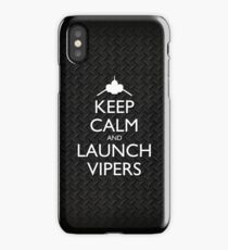 Keep Calm and Launch Vipers (Metal Decking) iPhone Case/Skin