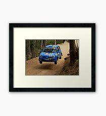 Airtime For Guy Tyler - FIA Australian Rally Championship 13.09.2013 Framed Print