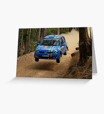 Airtime For Guy Tyler - FIA Australian Rally Championship 13.09.2013 Greeting Card