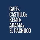 Gaff & Castillo & Kemo & Adama & El Pachuco (blue) by olmosperfect
