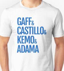 Gaff & Castillo & Kemo & Adama - Blue  T-Shirt