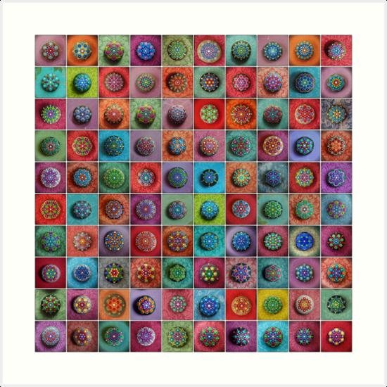 Jewel Drop Mandala Mosaic von Elspeth McLean
