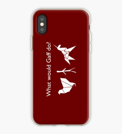 What Would Gaff Do? - Red iPhone Case