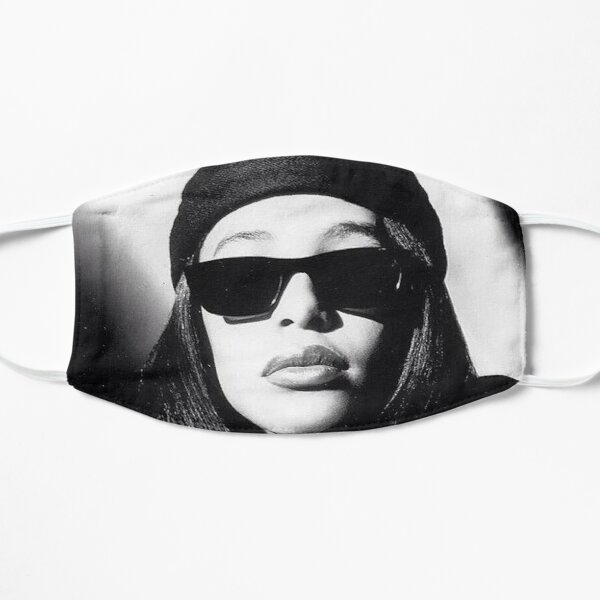 Aaliyah Black and White Mask