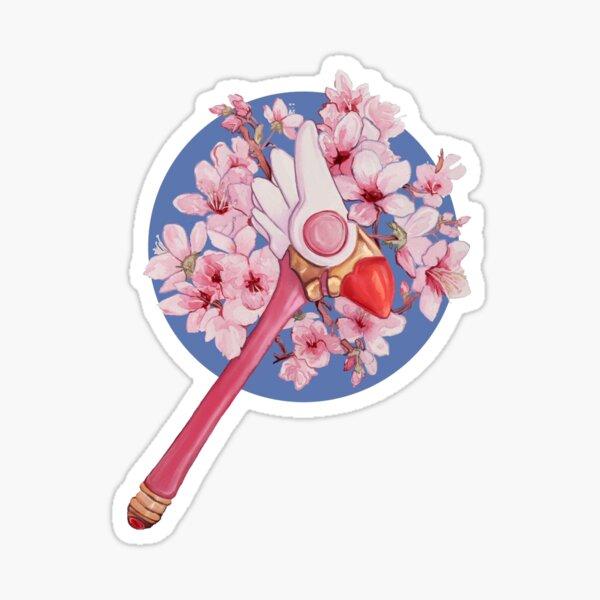 Varita de sellado floral Sakura Cardcaptor Pegatina