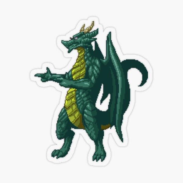 Card Dragon Finger Guns Transparent Sticker