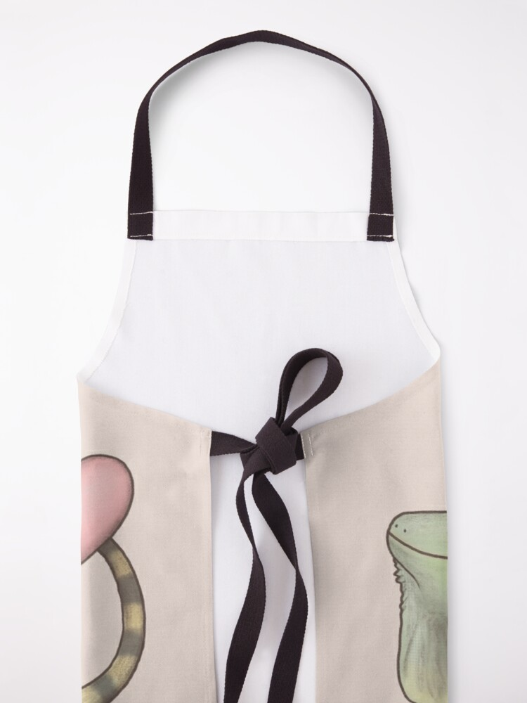 Alternate view of Iguana Love You Apron