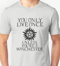 Camiseta ajustada Sobrenatural: solo vives una vez