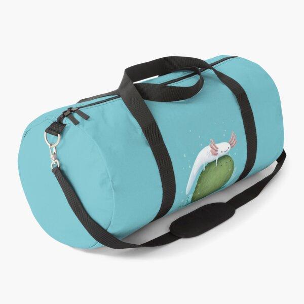 Axolotl on a Mossball Duffle Bag