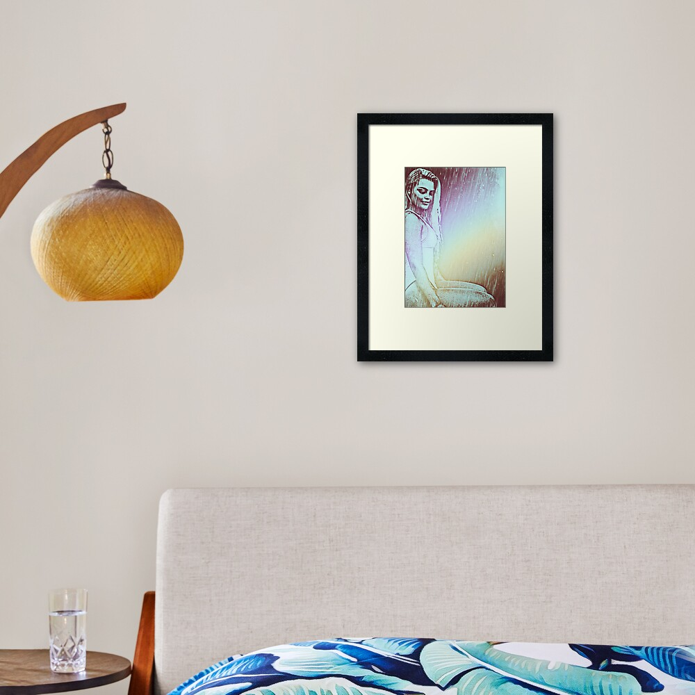 Solitary Rainbow Framed Art Print