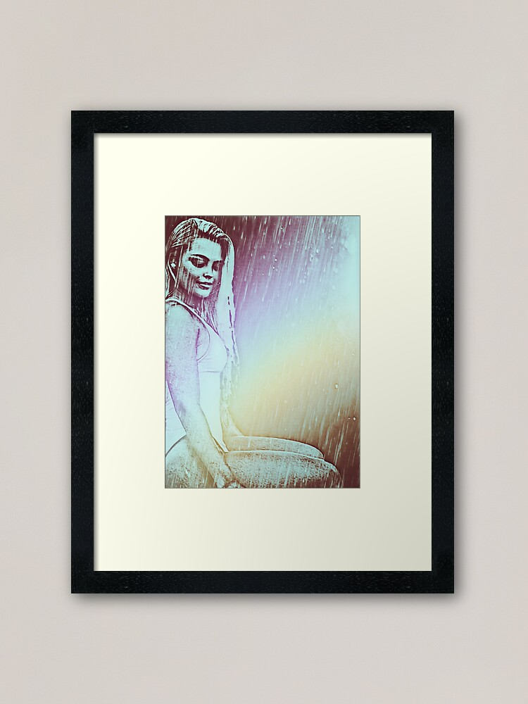 Alternate view of Solitary Rainbow Framed Art Print