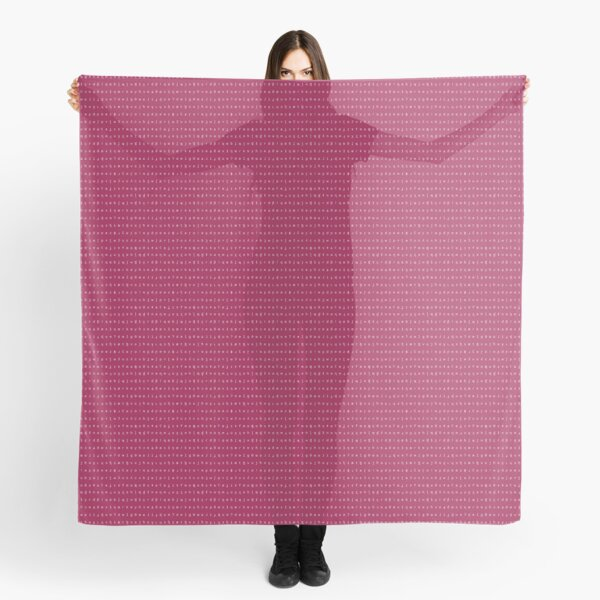 IPA scarf - raspberry and white Scarf