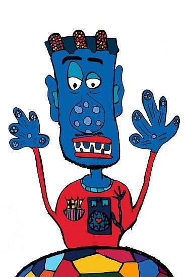 Goalkeeper, football, yellow, sport, monster, comic, children by jblittlemonsters