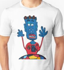Goalkeeper, football, yellow, sport, monster, comic, children T-Shirt