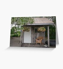 Garden Shed in Canada Greeting Card