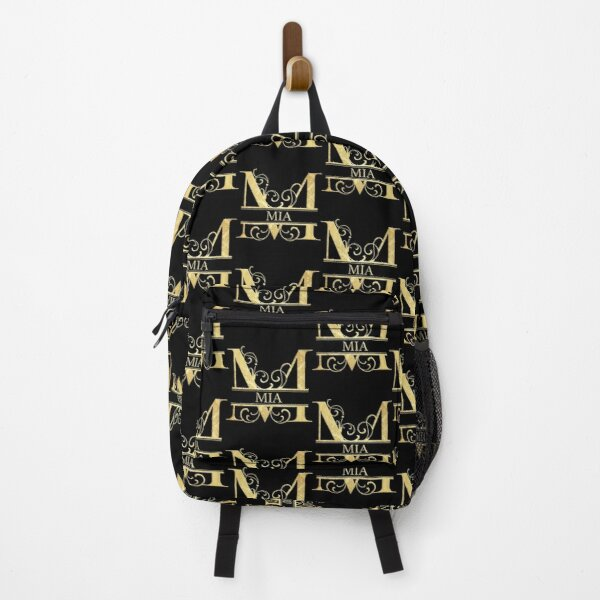 Mia Name -  Monogram Letter M The Mia Name Gift For Mia Backpack