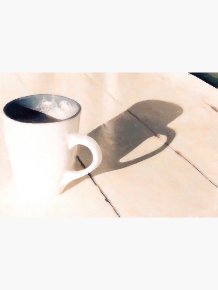 Coffee Relaxing on a Wooden Table by StackingStones
