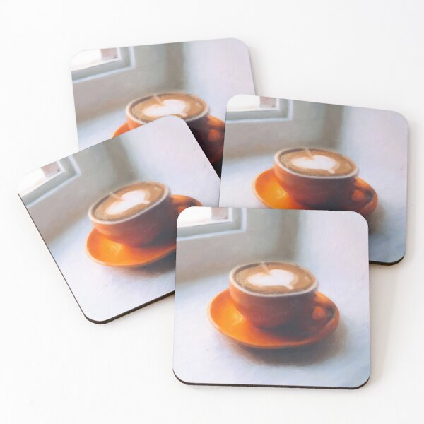 Coffee waking up by the window Coasters (Set of 4)