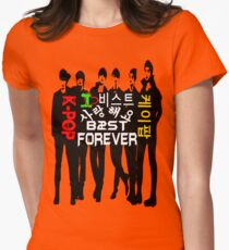 ♥♫I Love B2ST Forever Splendiferous K-Pop Clothes & Stickers♪♥ Women's Fitted T-Shirt