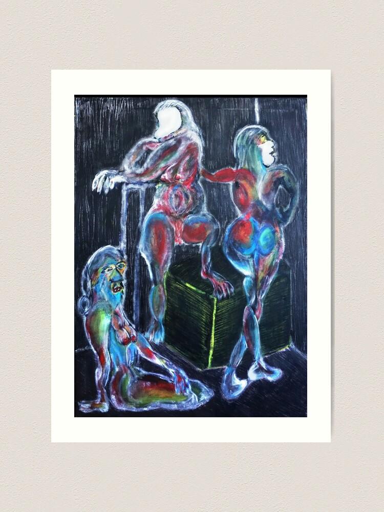 Alternate view of Capricorn Sisters: War, Plague, Earthquake Art Print