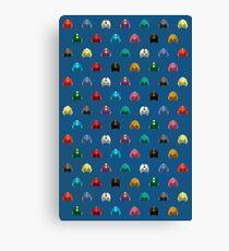 Cool Colorful Megaman Helmet Pattern Canvas Print