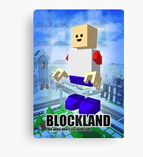 Blockland Poster Canvas Print