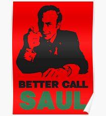 Better Call Saul (Red) Poster