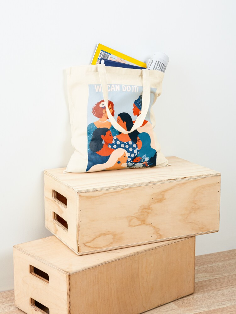 Alternate view of  We can do it, women together in feminism Tote Bag