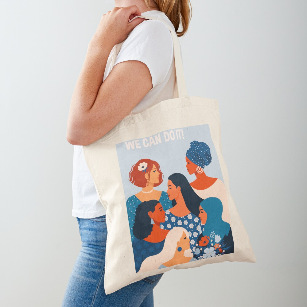 We can do it, women together in feminism Tote Bag