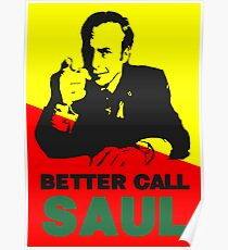 Better Call Saul (Red/Yellow) Poster