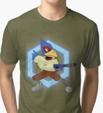 Falco Lombardi - Smash Melee/Star Fox Tri-blend T-Shirt