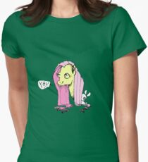 Sketchy Fluttershy - Yay Womens Fitted T-Shirt