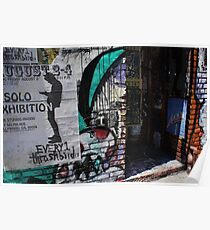 Solo Exhibition Thrashbird  Colorful Doorway Poster