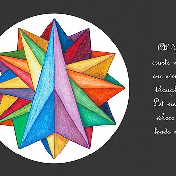 Crystalite Mandala Card w/grey background by TheMandalaLady