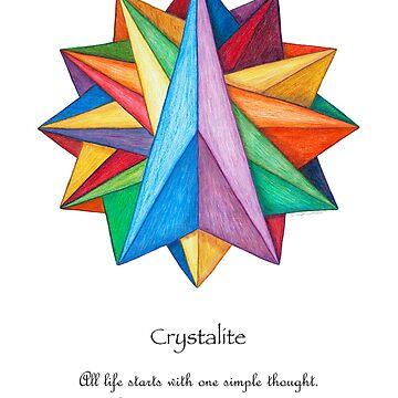 Crystalite Mandala Print w/msg by TheMandalaLady