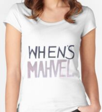WHEN'S MAHVEL Women's Fitted Scoop T-Shirt