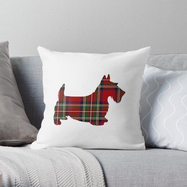 Roter Tartan Scotty Hund Dekokissen