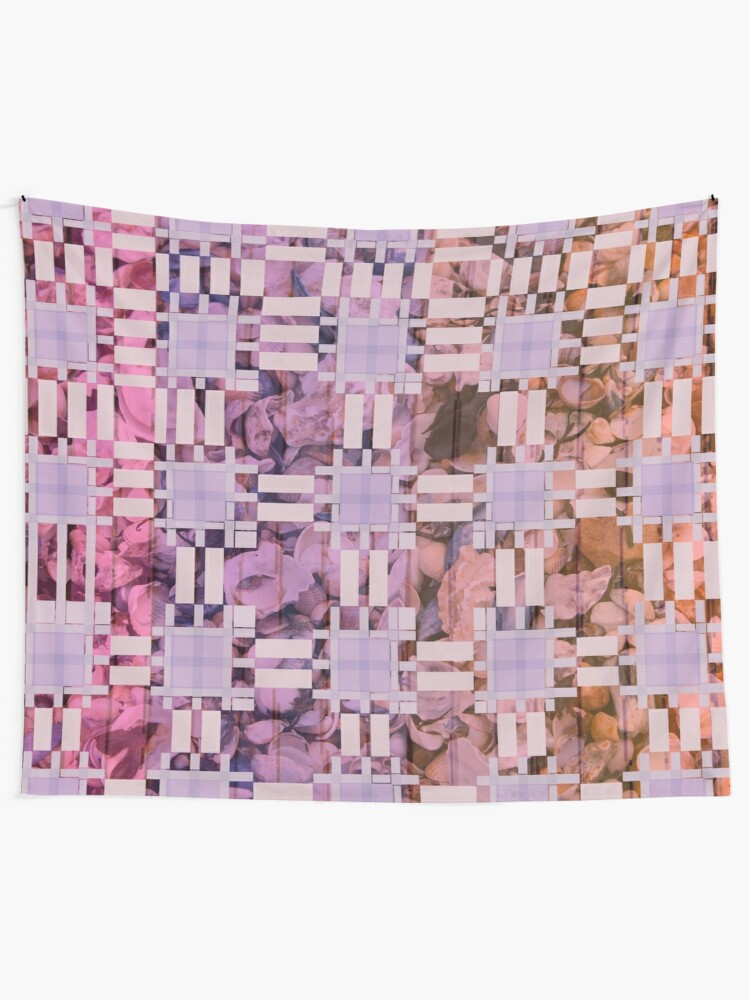 Alternate view of Cool Bohemian Patchwork Fabric Print Tapestry